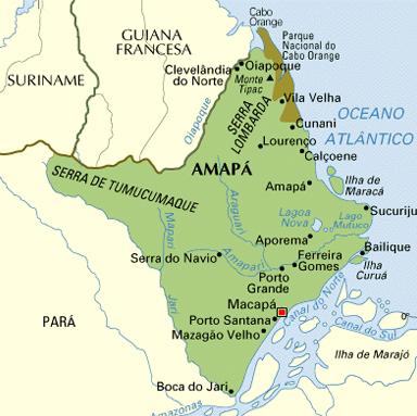 Resultado de imagem para Pedra Branca do Amaparí, Serra do Navio e Porto Grande.